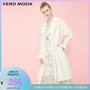 Vero Moda春秋新款纽扣装饰宽松版型中长款风衣外套女|319121540