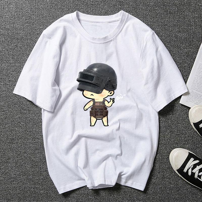 夏季五分袖男韩版潮牌学生短袖情侣装大码T恤男装宽松中袖衣服