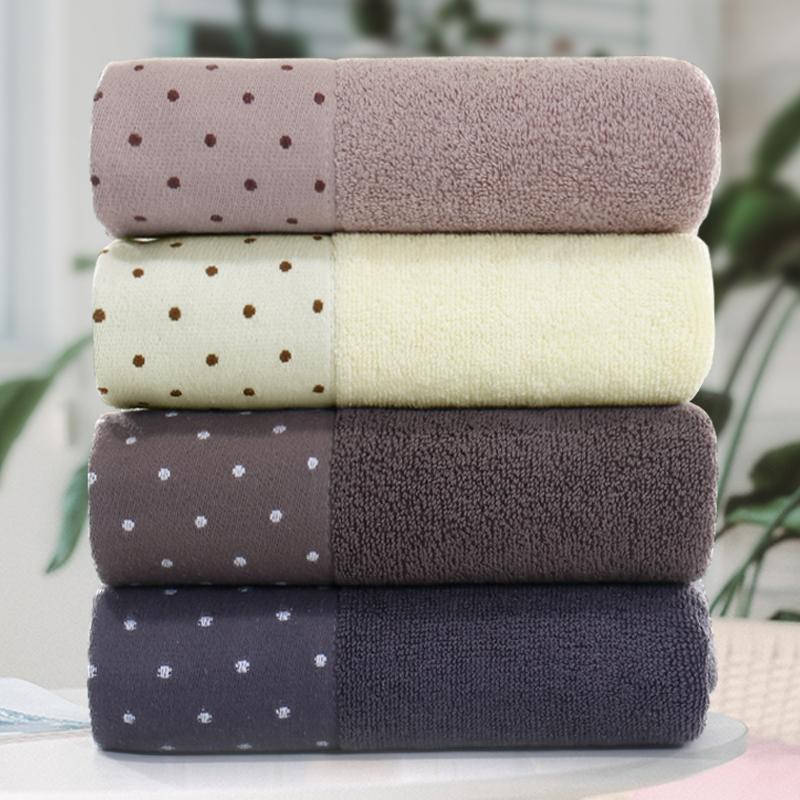 毛巾4条 纯棉洗脸家用全棉成人男女洗澡擦头发柔软吸水不掉毛毛巾