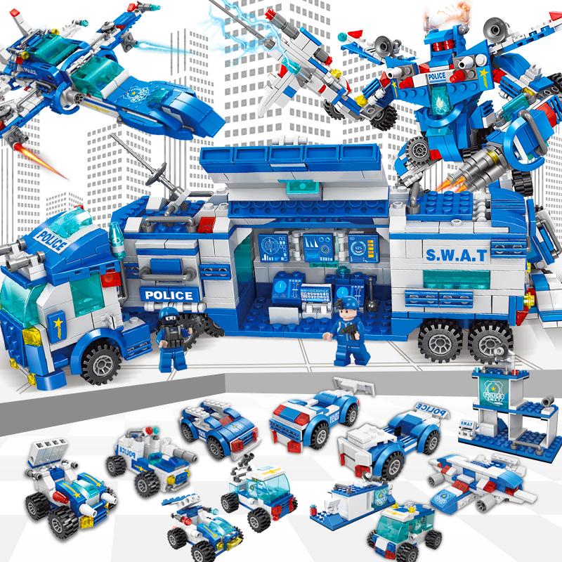兼容�犯咝】帕;�木军事模型男孩子6-10岁12大型拼装儿童益智玩具