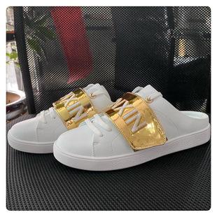 真皮半拖女半托休闲单鞋2020年新款夏天凉拖外穿时尚懒人包头小白图片