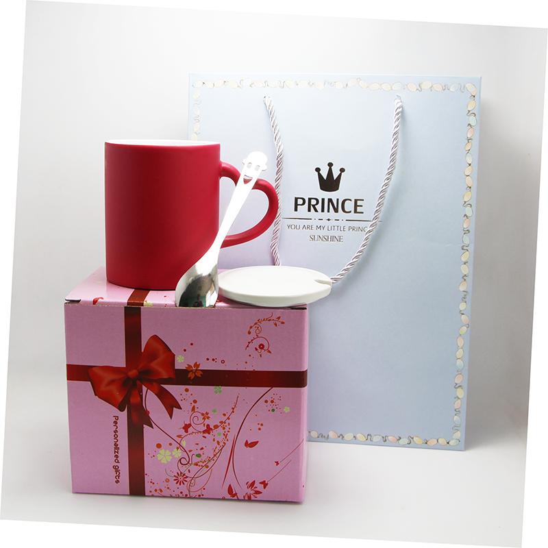 加热变色遇热个性生日diy网红星空爱心变色私人订制杯子印照片