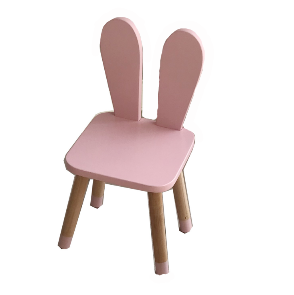 House solid wood cloud children's room chair ins burst Nordic wind furniture children's stool writing learning stool chair