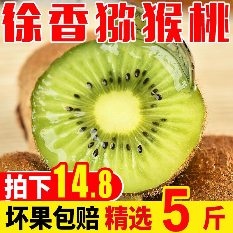 陕西徐香猕猴桃5斤 当季新鲜水果整箱批发绿心弥�A奇异果大果10