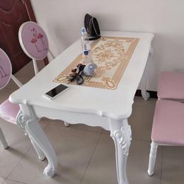 餐桌家用小户型4-6人欧式实木桌子1米简欧餐桌椅组合长方形吃饭桌