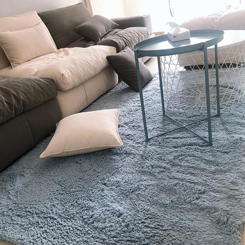 小地毯客厅卧室床边网红同款北欧ins风满铺可爱可坐毛毯地垫坐垫