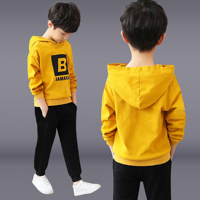 童装男童春秋装套装男孩两件套2019新款儿童运动套装中大童卫衣服