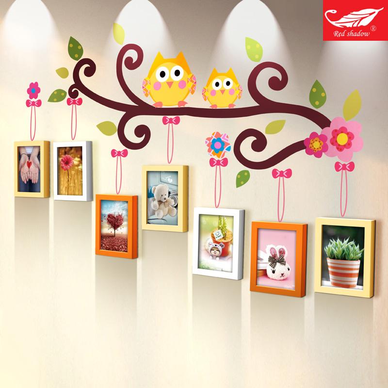 实木卡通挂墙相框相片框宝宝7寸儿童房照片墙装饰相框墙创意组合