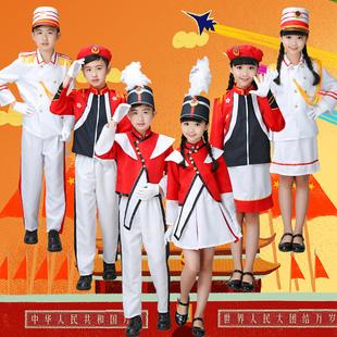儿童鼓号队仪仗队中小学生管乐队鼓号服装幼儿园升旗手国旗班服装图片
