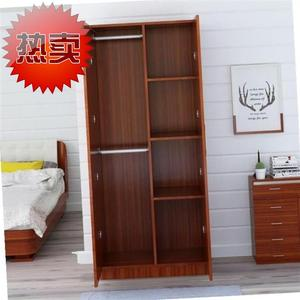 Simple wardrobe art cover suit k hat bed solid wood type household indoor wood furniture classification office assembly