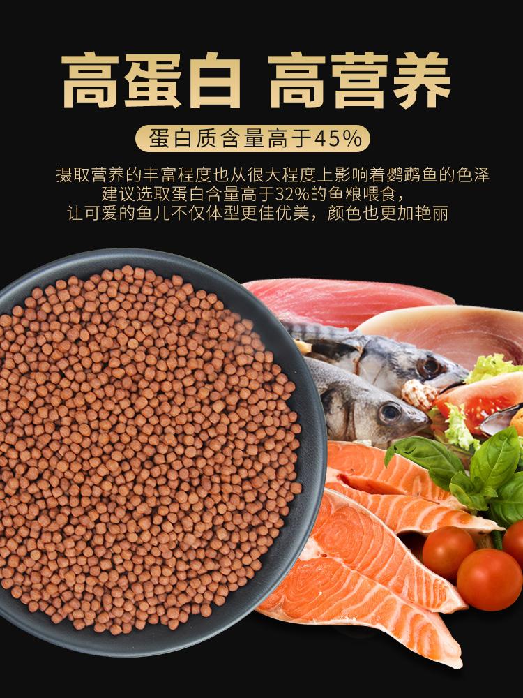 血鹦鹉鱼饲料增红增色沉底不浑水下沉型鱼粮罗汉鱼起头发财鱼鱼食