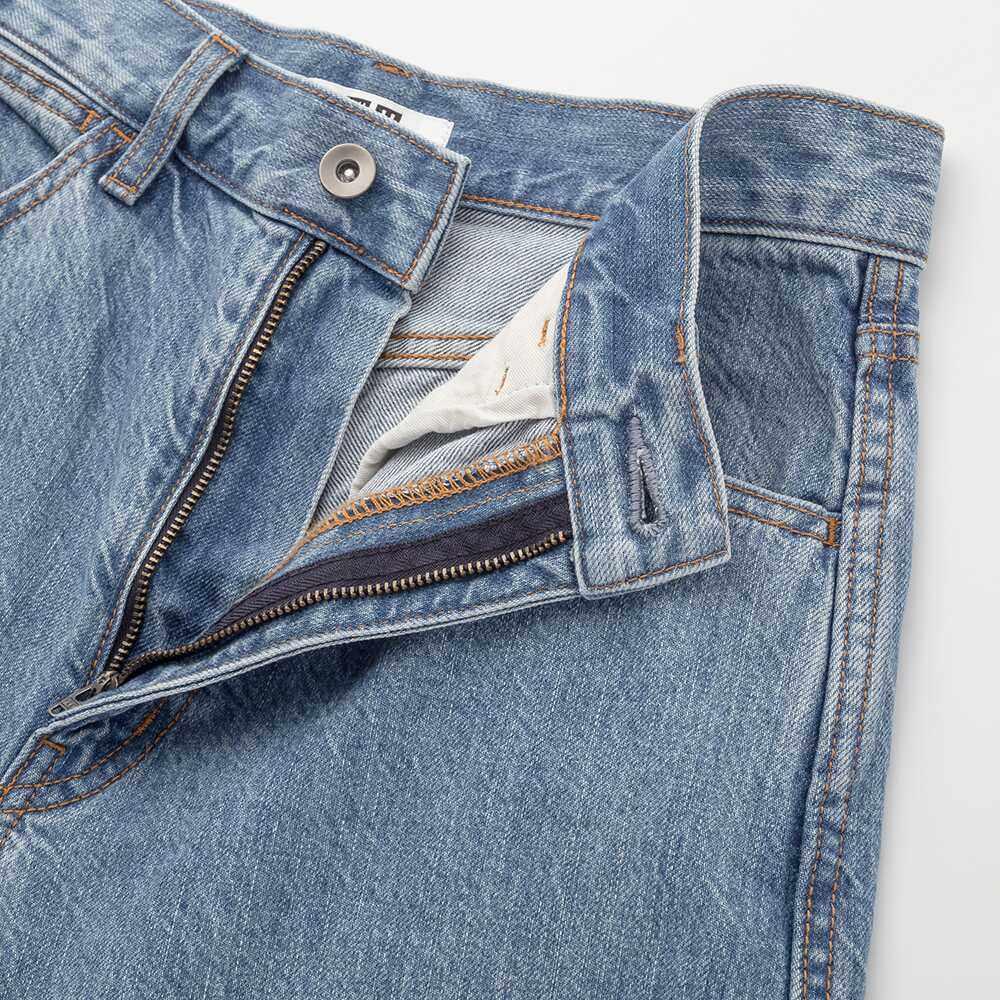 【设计师合作款】女装 宽腿廓形牛仔裤(水洗产品)(牛仔神裤)图片