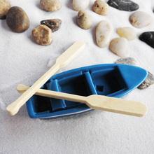 苔藓微景观多肉植物仿木船模型(小)船cm13篷船(小)nk塔李白摆件