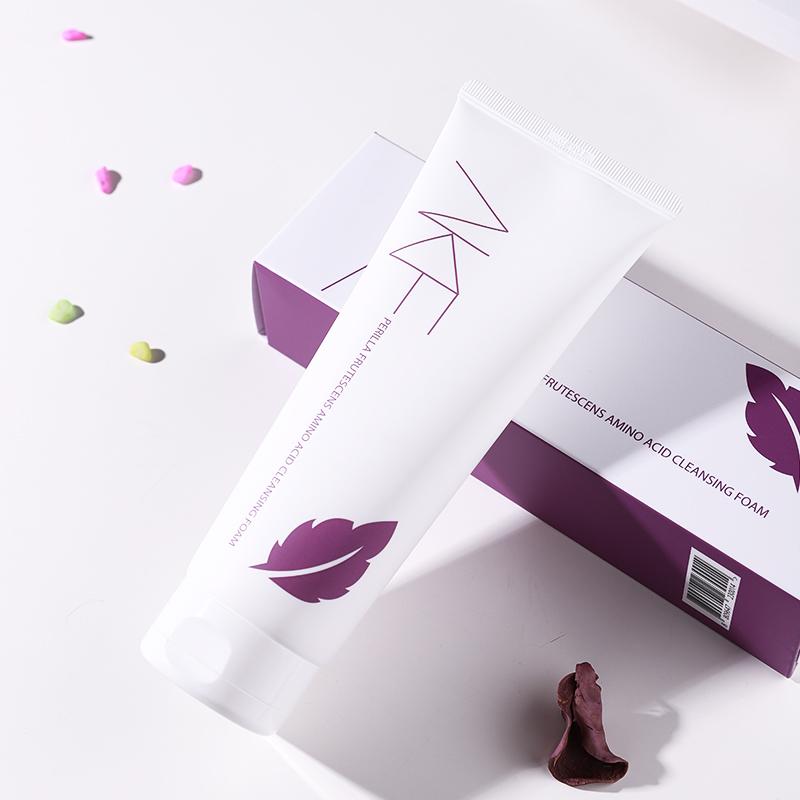 韩国akf紫苏氨基酸洗面奶女深层清洁控油祛痘补水保湿温和洁面乳