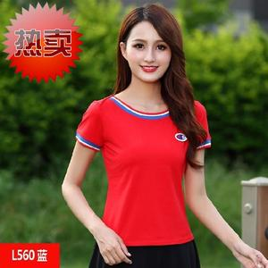 2019 Yang Liping Square Dance 3 Clothing Summer Summer Short Sleeve Mom Dress Cotton Middle-aged and Old Age Leisure Sports Set