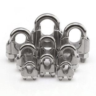 304不锈钢钢丝绳卡扣锁扣夹头