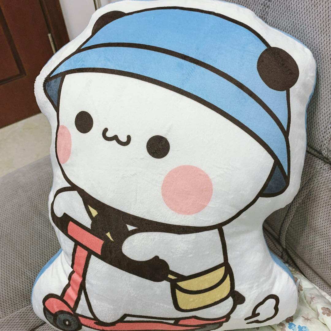 小熊猫一二小抱枕可爱卡通抱枕宿舍靠枕沙发抱枕靠枕腰枕送礼物枕