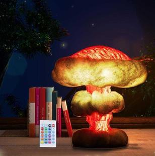 蘑菇云灯核爆炸灯摆件创意台灯效果模型发光夜灯爆炸装饰灯
