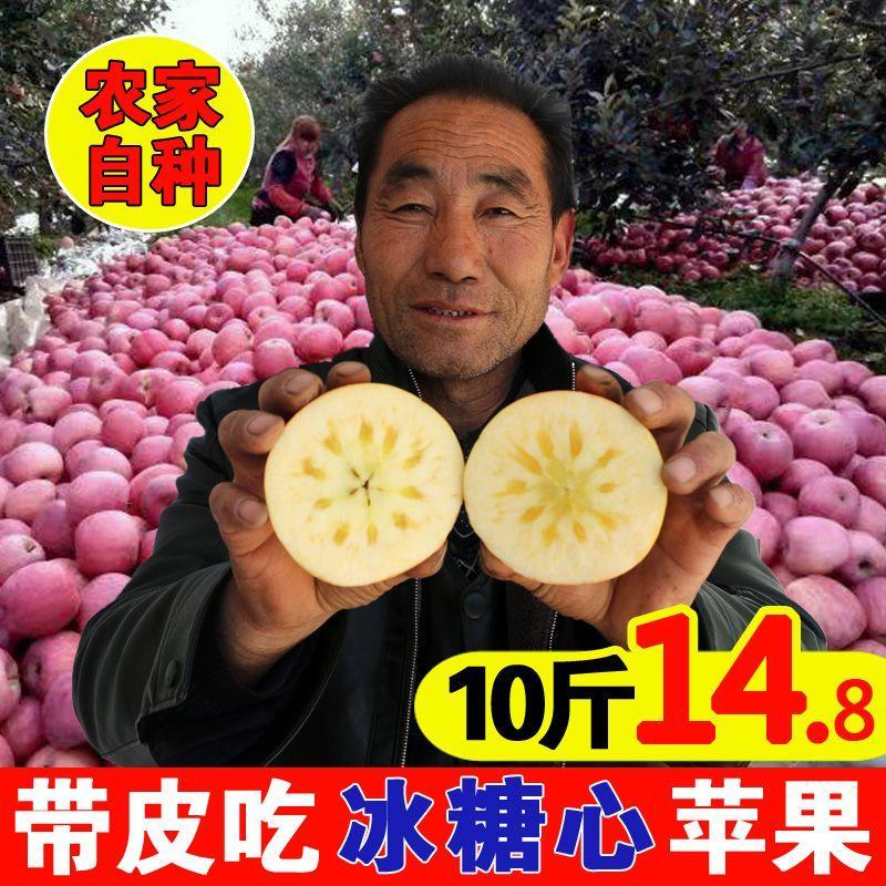 山西红富士冰糖心丑苹果水果新鲜10斤整箱包邮批当季陕西山东烟台
