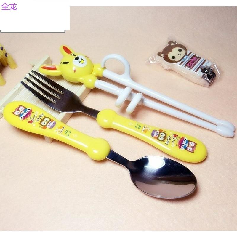 宝宝筷子小孩吃饭餐具套装用的勺子叉子儿童两岁学儿童拿 初学者