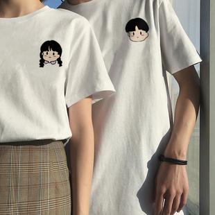 小谷子原创情侣装夏装小众设计感2020新款 夏天情侣款短袖T恤潮流图片
