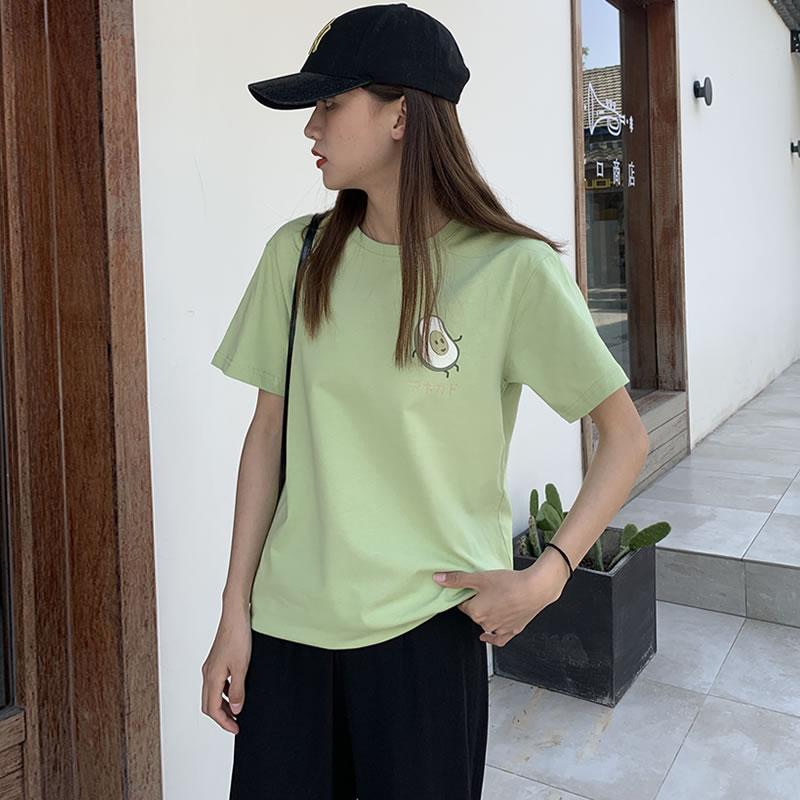 宽松t恤女纯棉短袖夏装大码2020年新款夏季韩版打底衫上衣ins潮