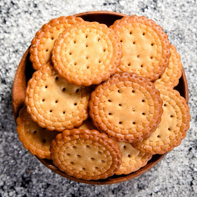 零趣日式小圆饼整箱海盐粗粮饼干多口味散装休闲零食品小吃包装3满15元减10元