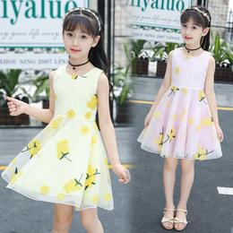 清新女童连衣裙夏装2020新款韩版中大儿童公主裙子洋气夏季连衣裙