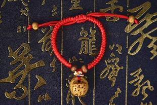 桃篮小框红绳生肖马桃核雕刻精品宝宝手链压惊野桃核纯手工图片