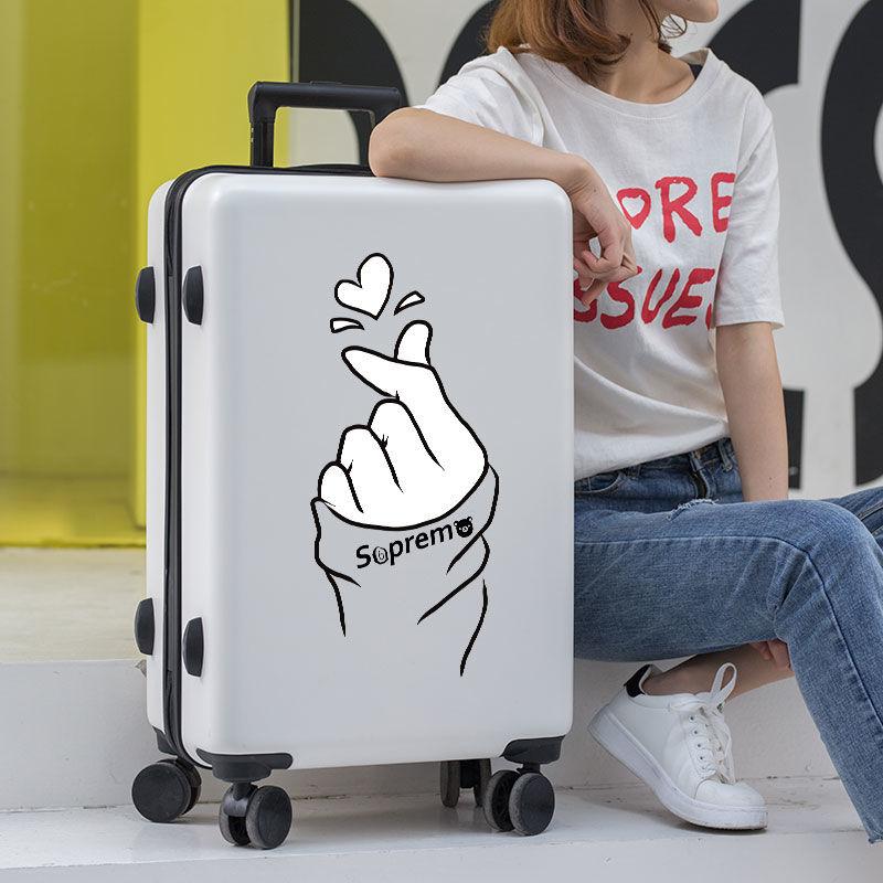行李箱女学生韩版拉杆箱男潮流小清新密码箱可爱旅行箱包卡通箱子