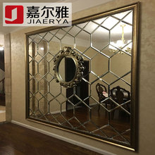 拼镜菱形镜六边型银镜金茶镜灰go11黑镜餐um背景墙艺术玻璃