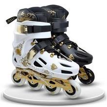 成的直排轮e花款k旱冰滑轮鞋闪ss12成年男yd单排轮滑奢华