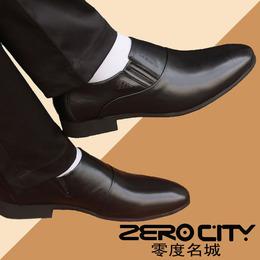男式新款商务正装男士皮鞋男装内增高真皮软皮新郎婚鞋尖头黑色