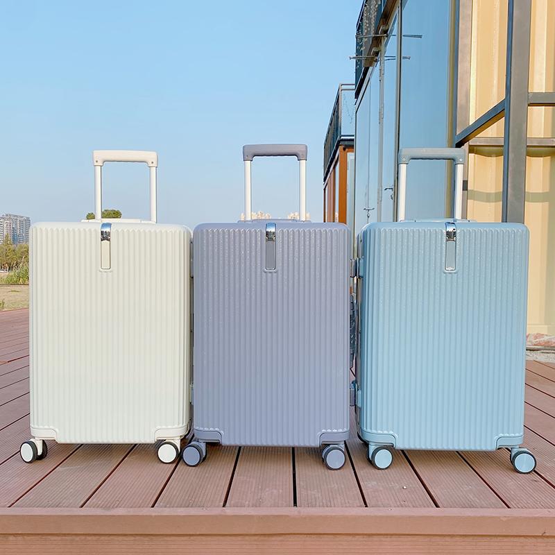 时光记箱包男女26寸行李箱子PC登机旅行密码箱24超静音拉杆万向轮