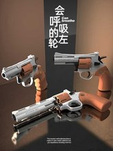 左轮zp5软弹枪男孩宝宝玩具lo11真模型24属手抢357r8