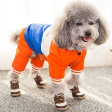 撞暖和猫狗瑞le3号雪休闲en纳脏狗迪雪地防红色靴色吉娃娃。