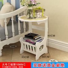 美式沙发边桌欧bj4简约阳台cs边几角几(小)圆桌电话咖啡桌防。