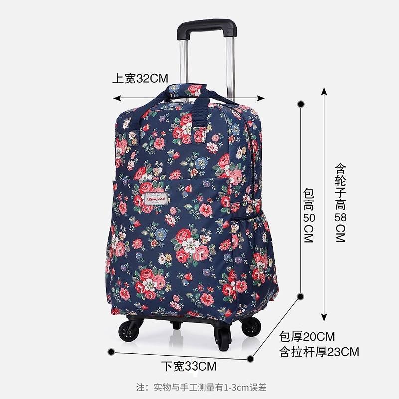 =!杆拉女手提拉轻便旅行包杆登机箱帆布印花行李箱男包女通用20