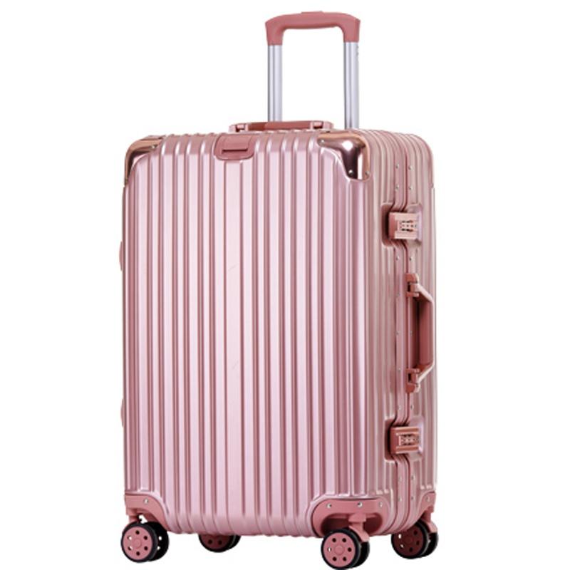 铝框箱万向轮旅行箱女24寸行李箱包男26学生密码皮箱子