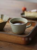 家日式粗陶咖啡杯家用复古陶瓷个性水杯陶艺家手工杯子器皿