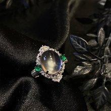 珠宝原创jq1然水沫玉zp璃种指环戒指 媲美翡翠