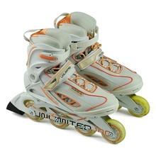 溜冰鞋成年轮滑5j4成的旱冰ct直排轮黑白色 滑轮鞋男女