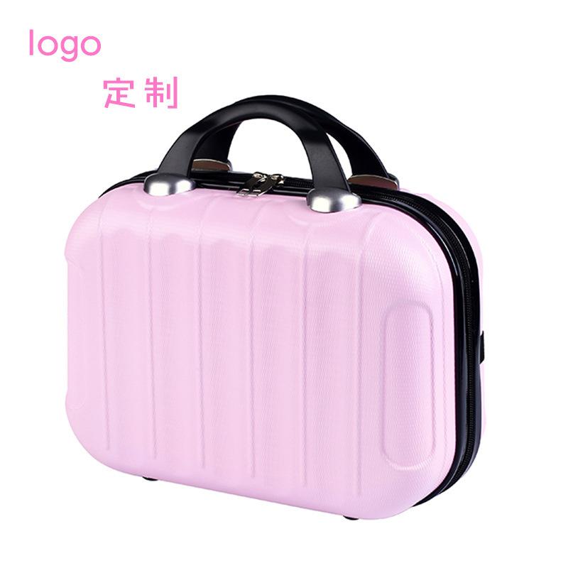 化妆包ABS14寸手提包女小型旅行箱包迷你手拎包手提箱子