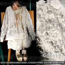 甜美公主仙气白色手工钩织iz9层镂空钩oo朵长袖开衫外套上衣