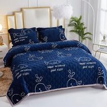 冬季加厚盖H毯多尺寸速暖珊瑚绒毯子法兰绒毛毯单人双人盖毯床单
