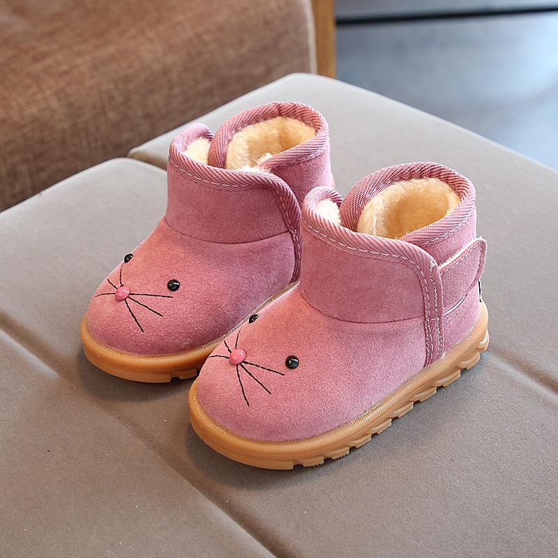 儿童棉鞋雪地靴2018冬新款宝宝鞋韩版女童保暖鞋