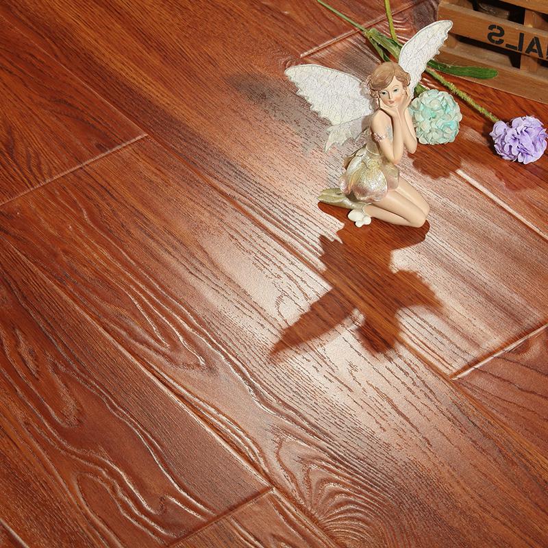 大自然环保浮雕复古强化复合木地板卧室家用厂家直销12mm工程板