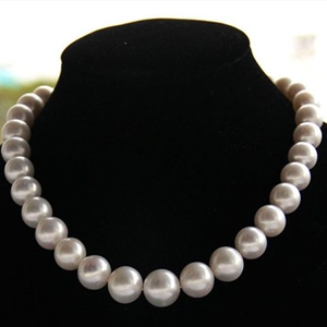 Genuine fake one lost ten natural pearl necklace 10-11mm near round extremely bright micro-time to send mother-in-law gift