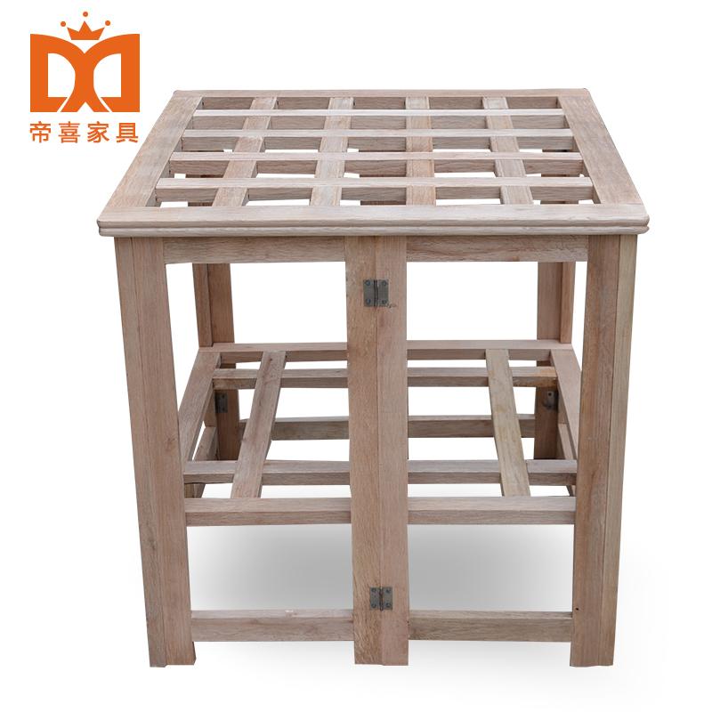 实木烤火架折叠烤火桌家用取暖桌 折叠炕桌餐桌棋牌小方桌