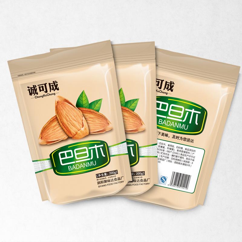 坚果美国巴旦木壳杏仁独立好吃的干果小包装年货包邮特价200g